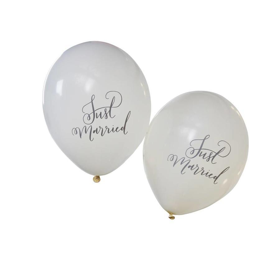 Ballon Just Married (10 stuks)-1