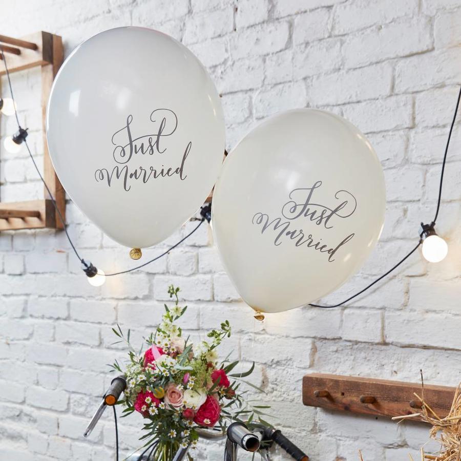 Ballon Just Married (10 stuks)-2