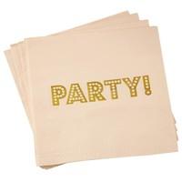 thumb-Servet party roze (20 stuks)-1