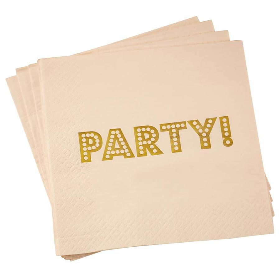Servet party roze (20 stuks)-1