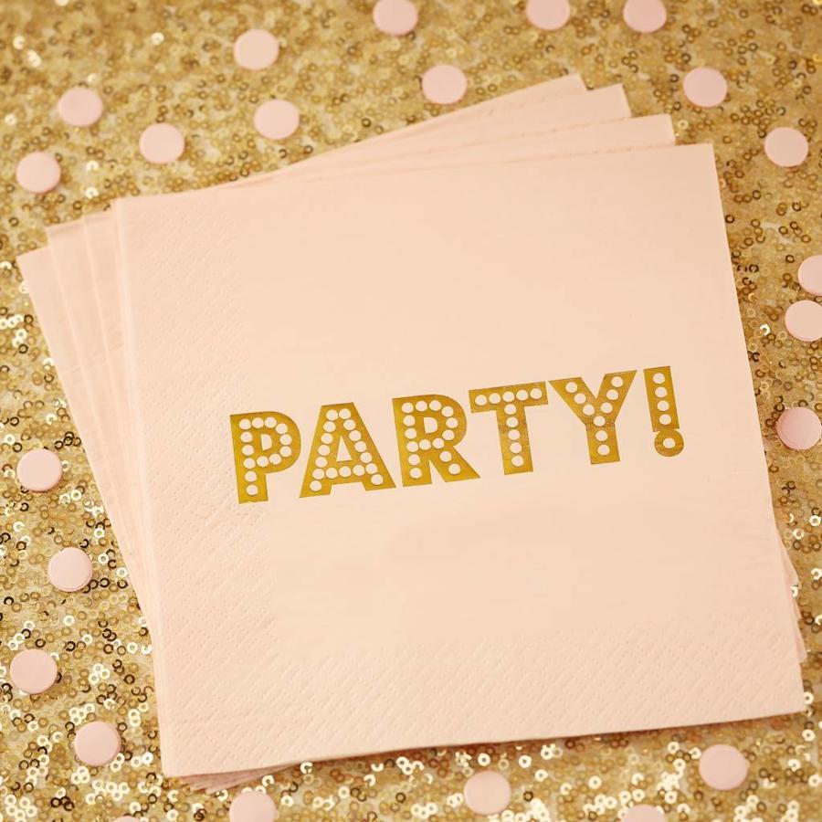 Servet party roze (20 stuks)-2