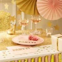 thumb-Bordje party roze (8 stuks)-3