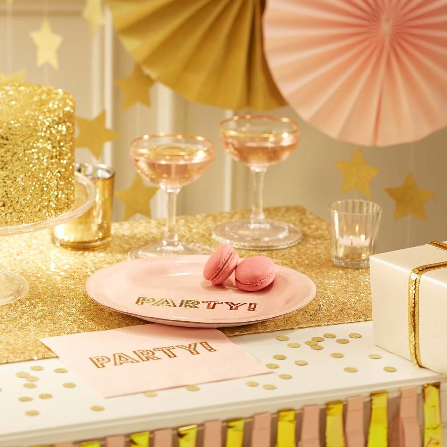 Bordje party roze (8 stuks)-3