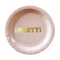 thumb-Bordje party roze (8 stuks)-1
