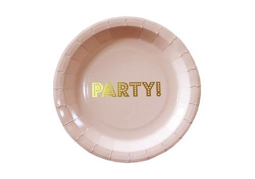 Bordje party roze (8 stuks)