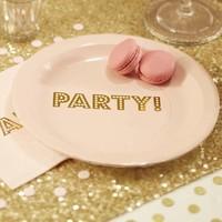 thumb-Bordje party roze (8 stuks)-2