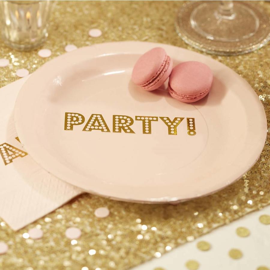 Bordje party roze (8 stuks)-2