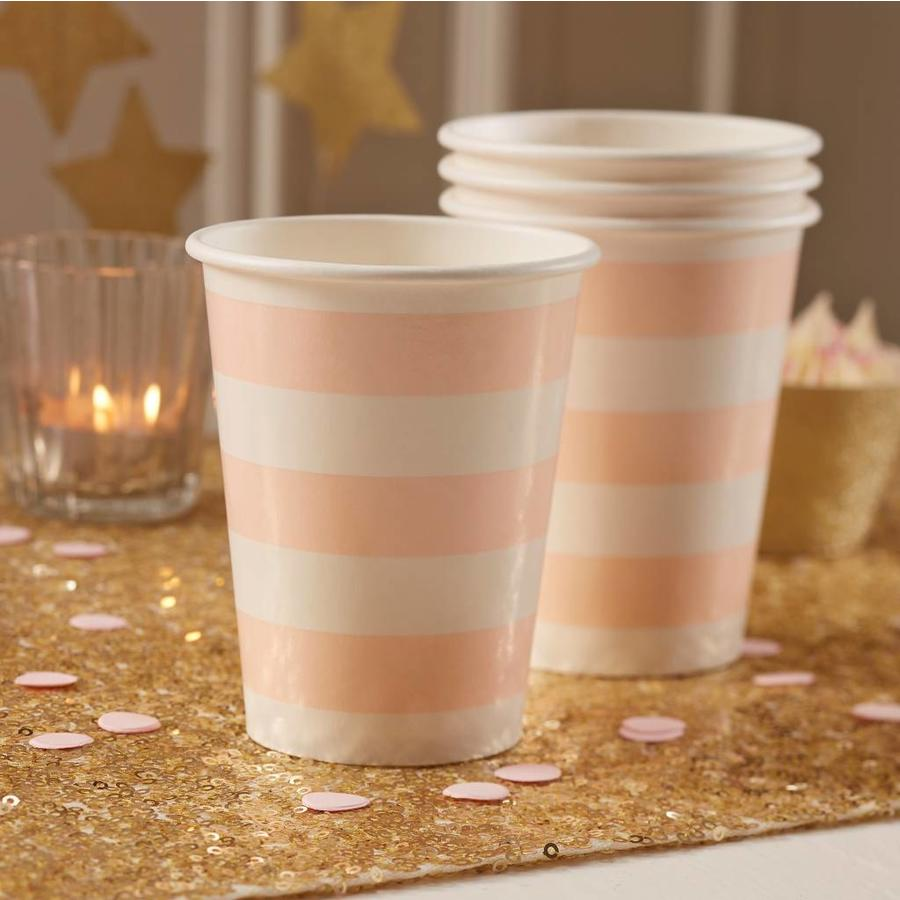 Bekertje party roze (8 stuks)-2