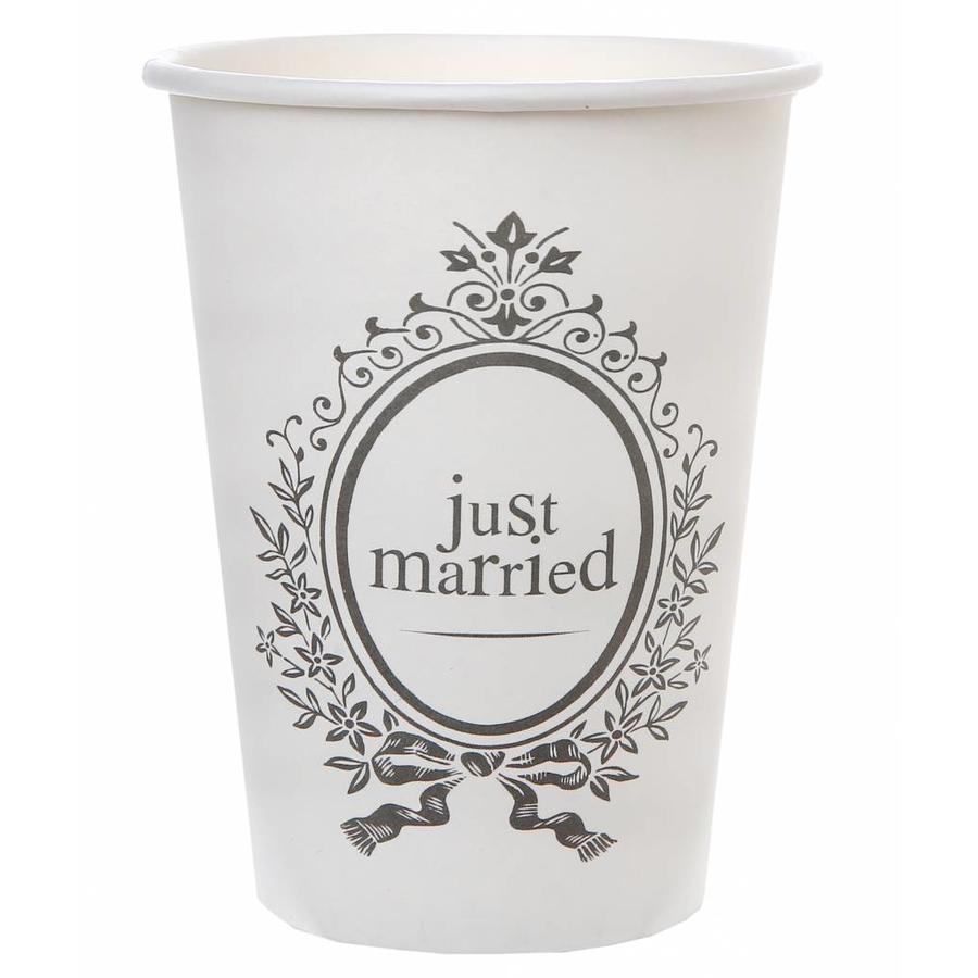 Bekertjes Just Married (10 stuks)-1