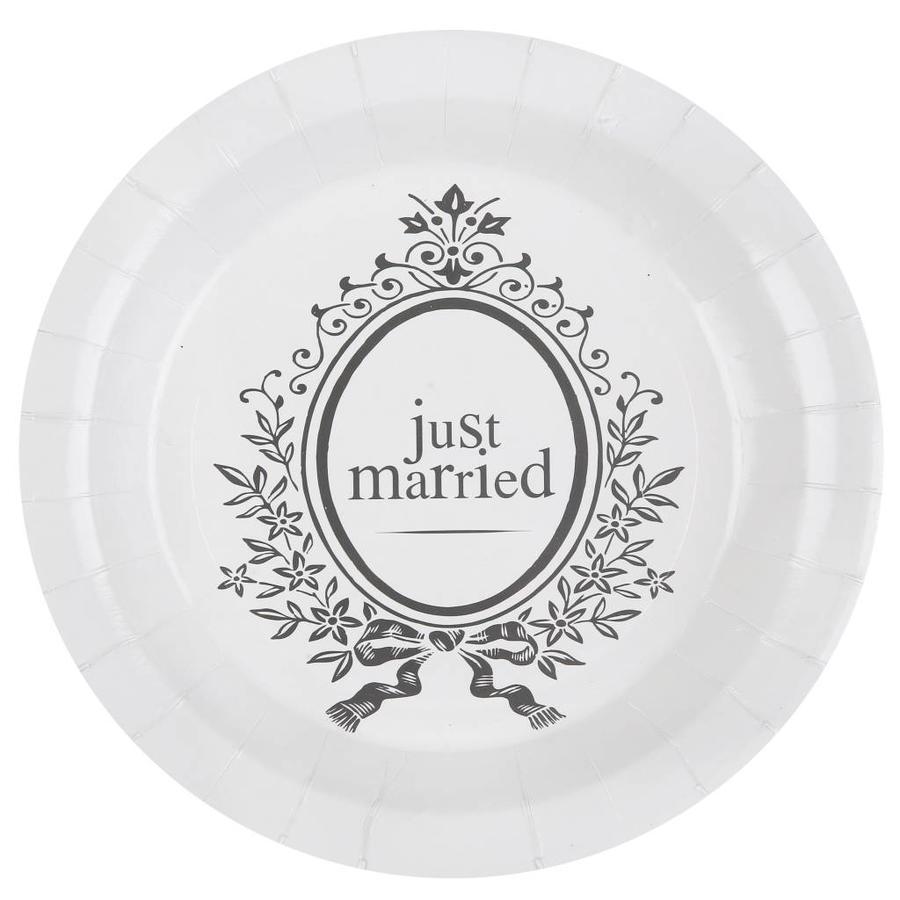 Bordjes Just Married (10 stuks)-1