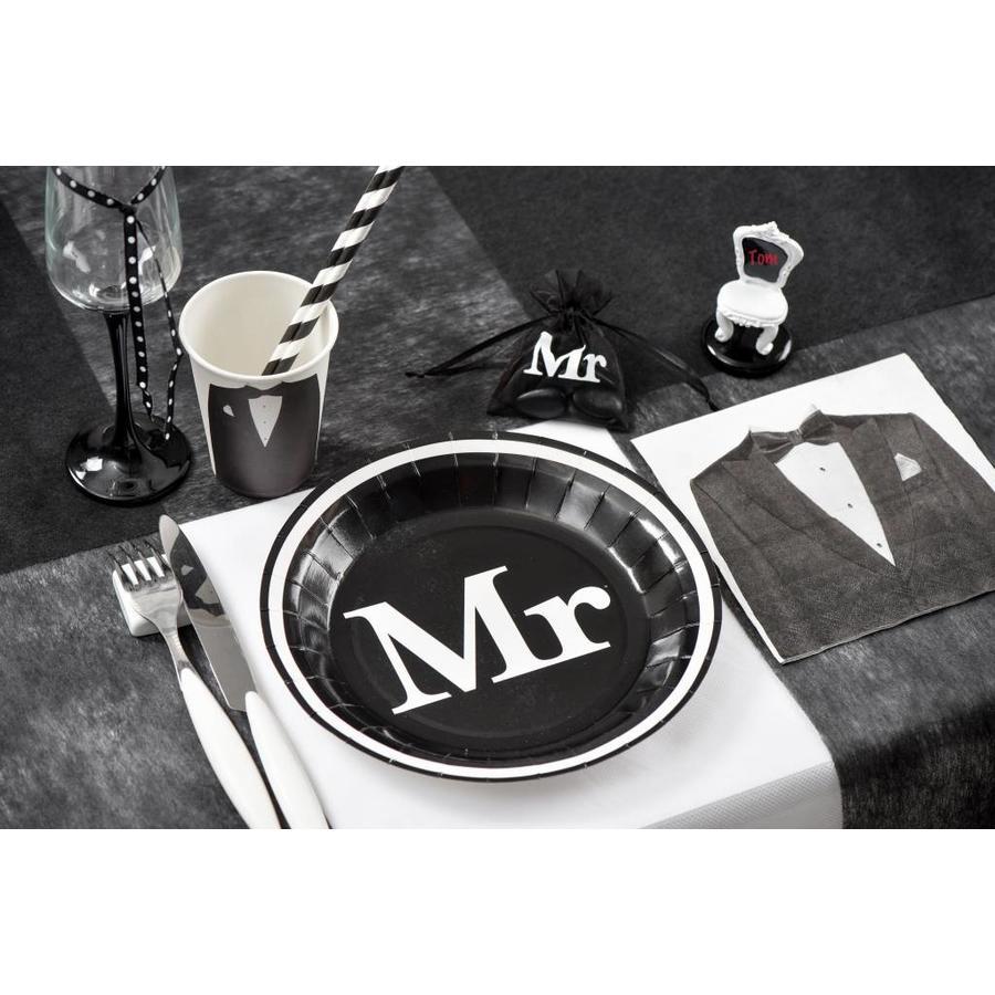 Servetten zwart Mr (20 stuks)-3
