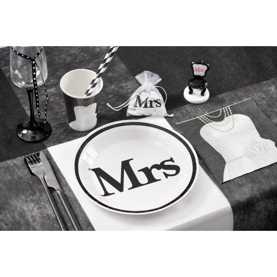 Servetten wit Mrs(20 stuks)-2