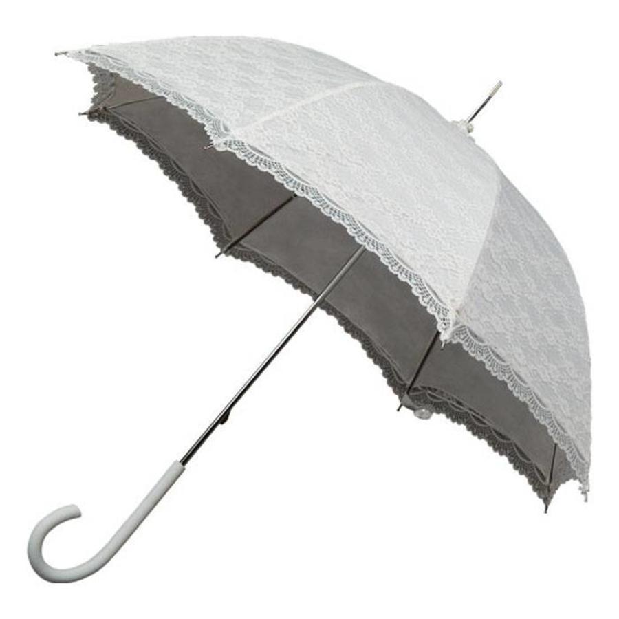 Kanten paraplu wit-1