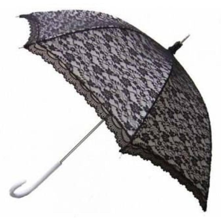 Kanten paraplu zwart-1