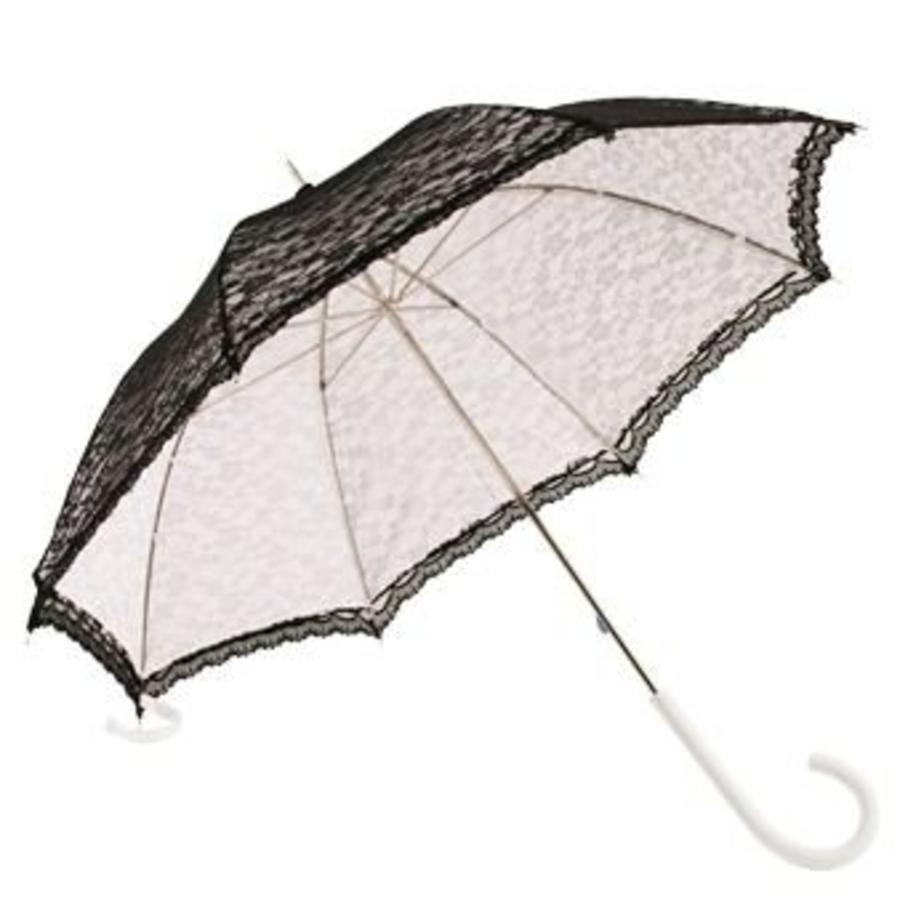 Kanten paraplu zwart-2