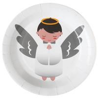 thumb-Witte bordjes engel (10 stuks)-1