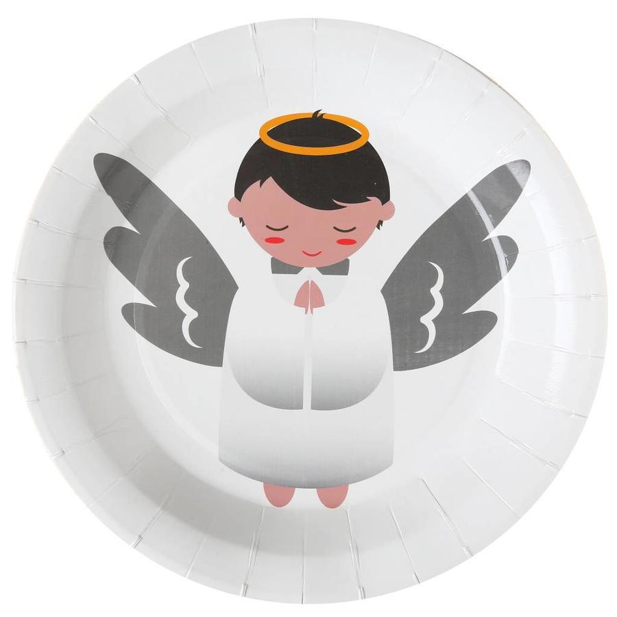 Witte bordjes engel (10 stuks)-1
