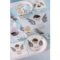 thumb-Witte bordjes engel (10 stuks)-2