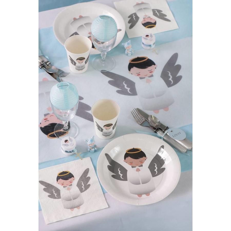 Witte bordjes engel (10 stuks)-2