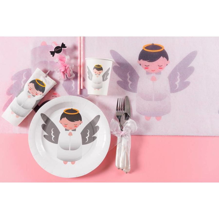 Witte bordjes engel (10 stuks)-3