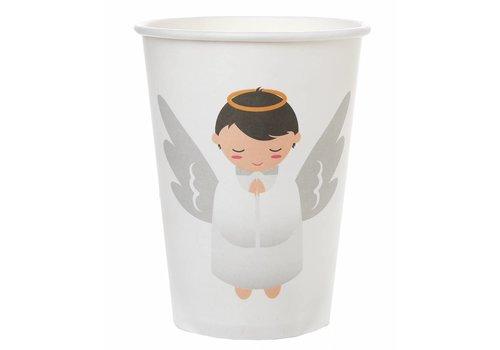 Witte bekertjes engel (6 stuks)
