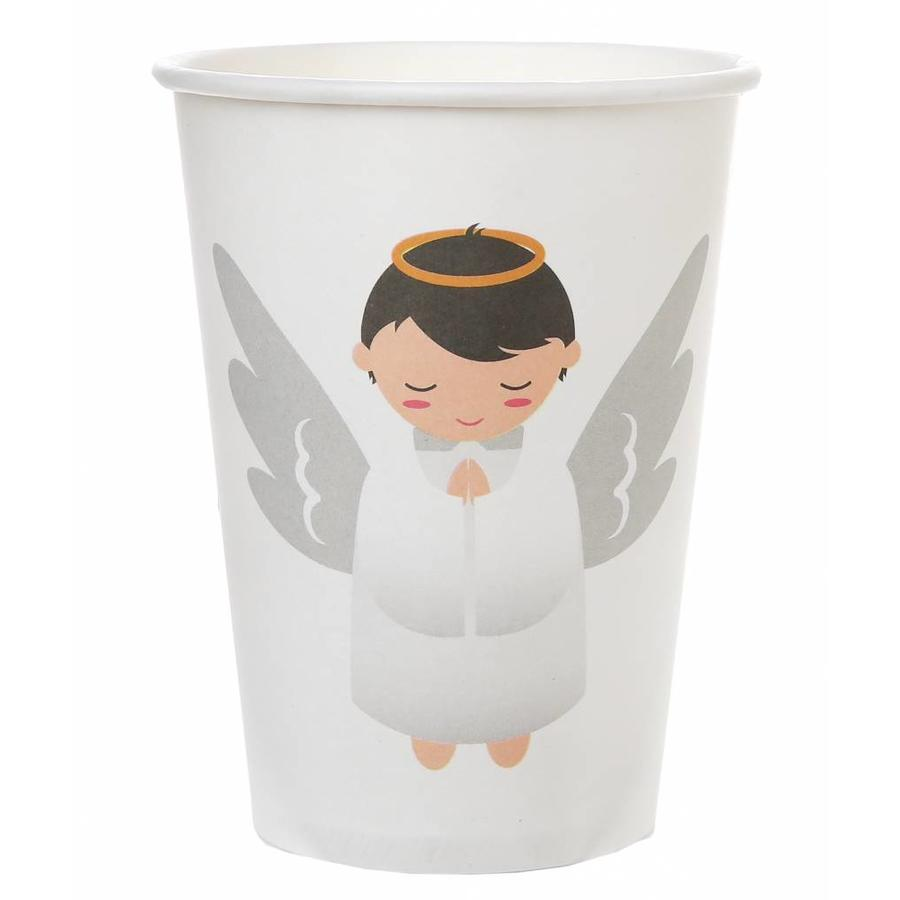 Witte bekertjes engel (6 stuks)-1