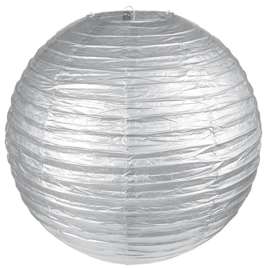 Lampion zilver diameter 20 cm-1
