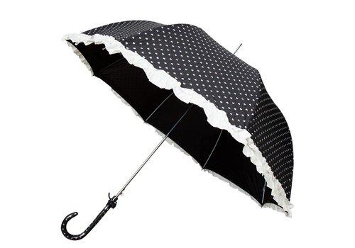 Hartjes paraplu zwart