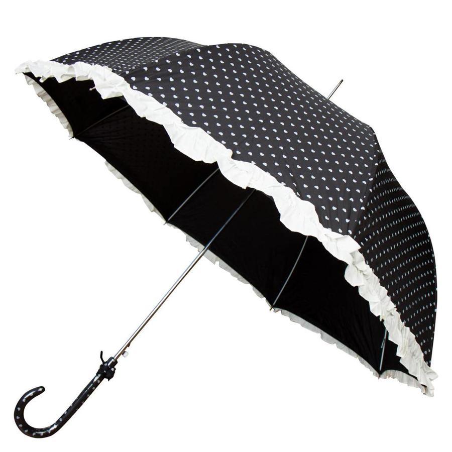 Hartjes paraplu zwart-1
