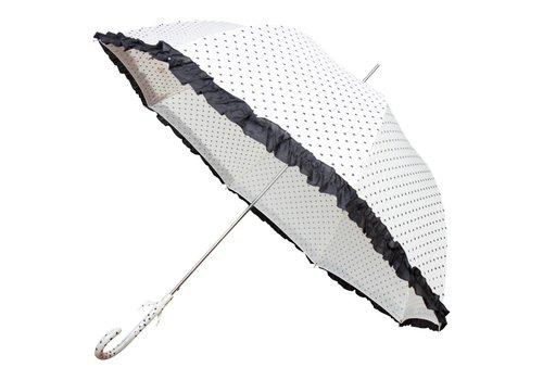 Hartjes paraplu wit