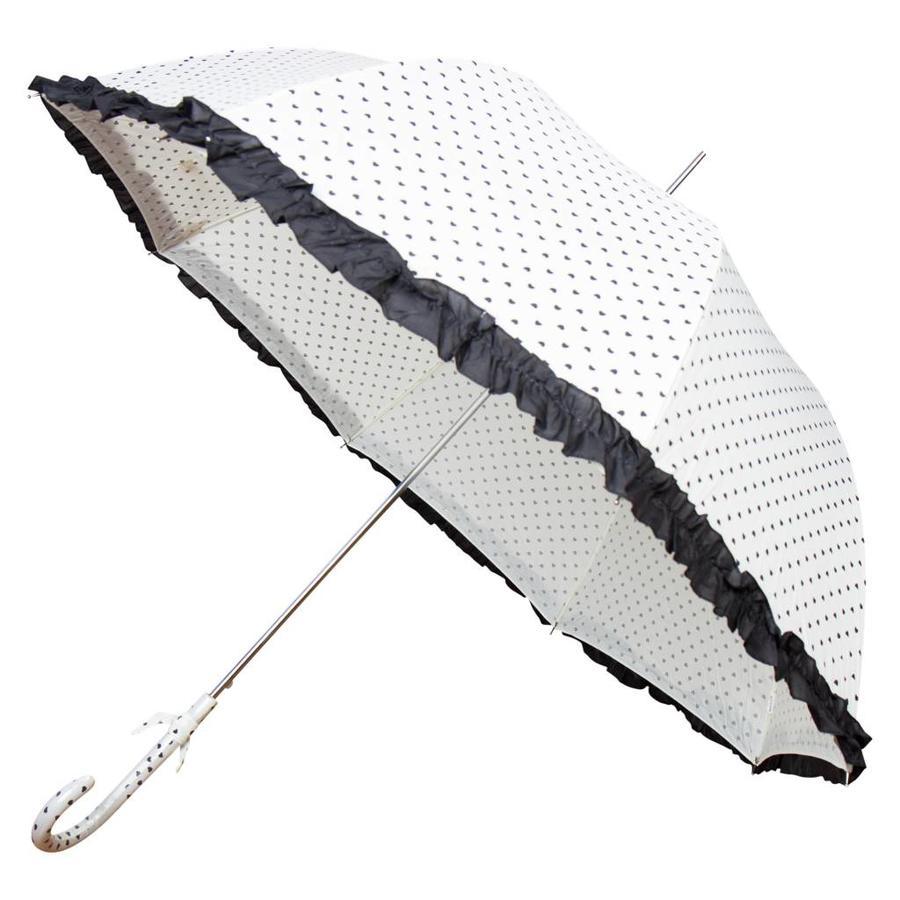 Hartjes paraplu wit-1