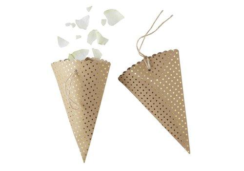 Confetti hoorntjes (10 stuks)