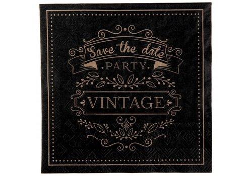 Servetten vintage (20 stuks)
