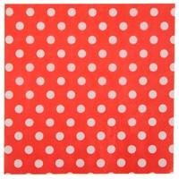 thumb-Servet bolletjes rood (20 stuks)-1