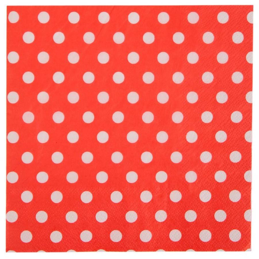 Servet bolletjes rood (20 stuks)-1