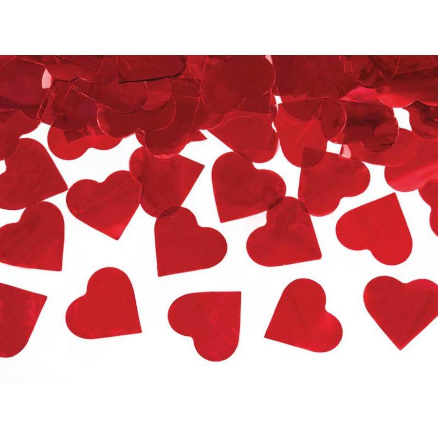 Confetti kanon rode hartjes-2