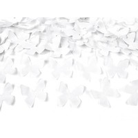 Confetti kanon witte vlinders