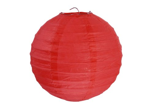 Lampion rood diameter 20 cm (2 stuks)