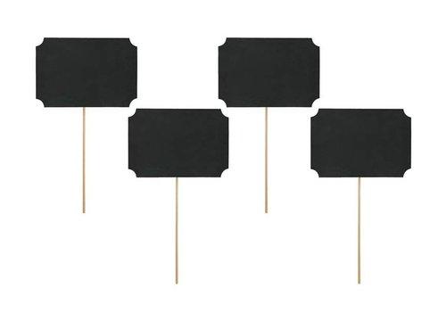 Krijtbord houder rechthoek (4 stuks)