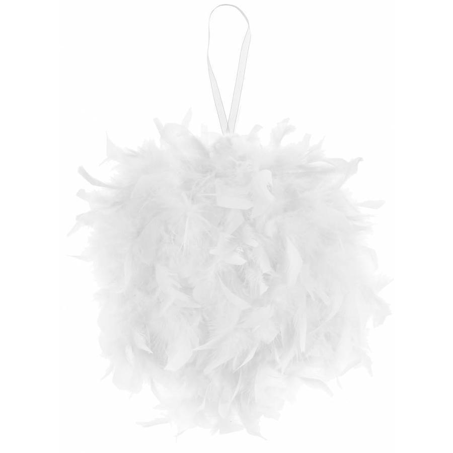 Vederen bal wit 30 cm-1