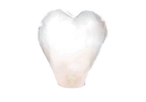 Wensballon hart wit