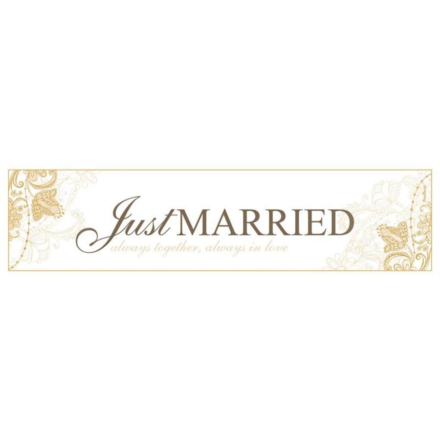 Just Married nummerplaat goud-1
