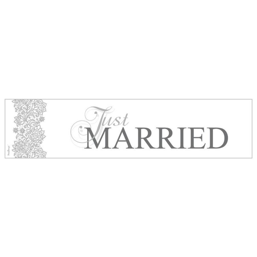 Just Married nummerplaat grijs-1