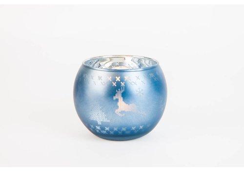 Photophore en verre blue