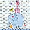 Perfect Decorations Servetten olifant blauw (20 stuks)