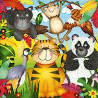 Servetten dierentuin (20 stuks)