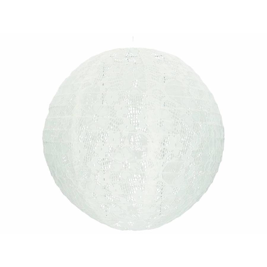 Lampion wit kant 30 cm-1