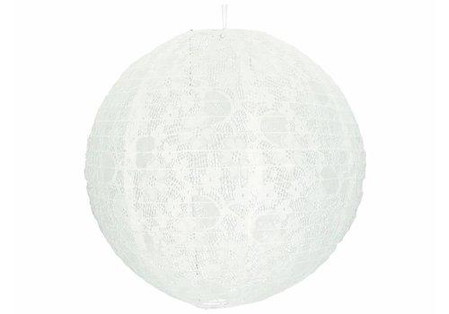 Lampion wit kant 40 cm