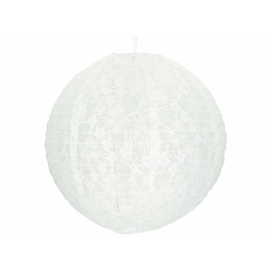 Lampion wit kant 40 cm-1