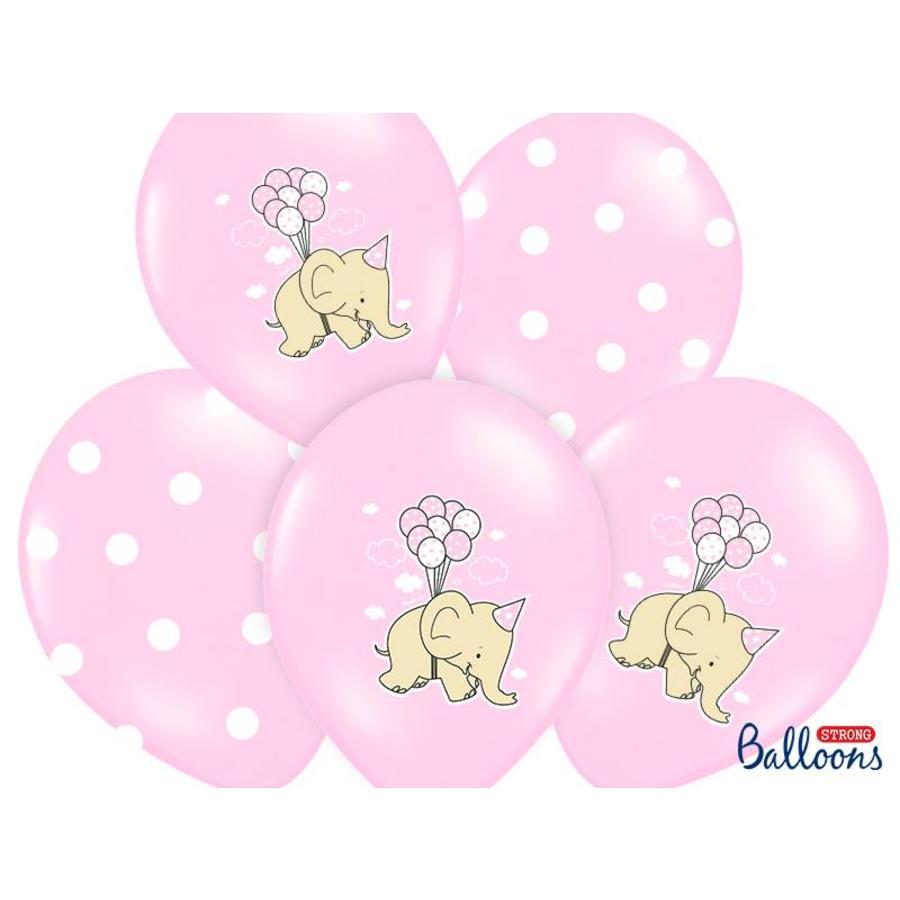Roze ballonnen olifant (6 stuks)-1